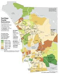 Zip Code Map San Diego by And Cold Zones Of San Diego Real Estate The San Diego Union