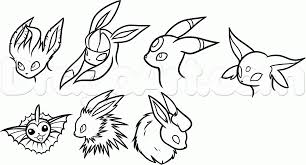 how to draw eeveelutions step by step pokemon characters anime