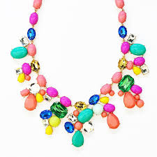 color stone necklace images Candy color statement necklace multi colored crystal collar jpg