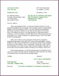 Example Business Letter by Business Letter Format Example Designproposalexample Com