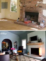 How To Resurface A Brick Fireplace by Before U0026 After 15 Fireplace Surrounds Made Over