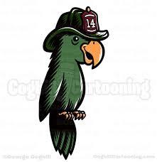 oakbrook brewing company firefighter parrot cartoon logo coghill