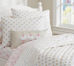 Black And White Lace Comforter Gold Polka Dot Quilt Pottery Barn Kids