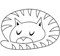 imágenes de gatos fáciles para dibujar dibujo de gato durmiendo para colorear dibujos net