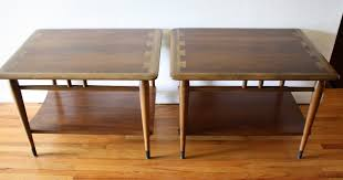 mid century modern coffee and side end tables by lane picked vintage