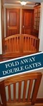 dog gates wooden open travel