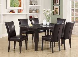 Espresso Dining Room Set by Chair Carmine 7 Piece Dining Table Set Sets At Hayneedle Room And