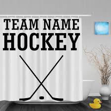 personalized home decor customize team name hockey shower curtain personalized home decor