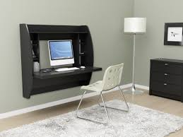 Modern Desk White by Prepac Broadway Floating Desk With Storage In Black Espresso Or White