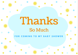 baby shower notes thank you cards baby shower hostess thanks