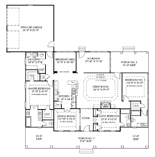 valuable ideas 12 one story house plans 2 master suites with