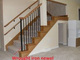 Wrought Iron Banister Wrought Iron Newel Post Plain Style Portland Stair Company