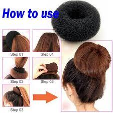 hair bun maker plate hair donut bun maker magic foam sponge hair styling tools