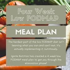 low fodmap meal plan 4 week elimination plan ignite nutrition inc