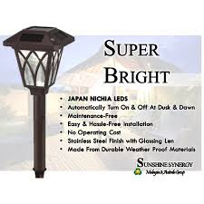 Brightest Solar Landscape Lighting - bright solar alloy white nichia leds pathway lights