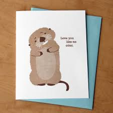 you like no otter letterpress card