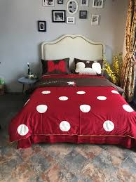 Mickey Duvet Cover Red Polka Dot Mickey Head Duvet Cover Bedding Sets Egyptian Cotton
