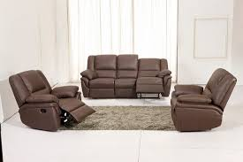 Recliner Sofa Suite Amazing Of Brown Leather Recliner Sofa Leather Reclining Sofas