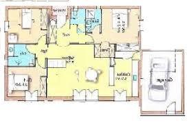 plan maison plain pied 100m2 3 chambres plan maison plain pied sud