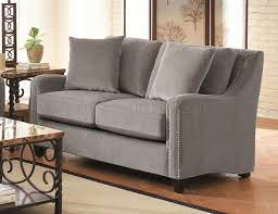 Torres Upholstery 504721 Sofa In Grey Fabric By Coaster W Options
