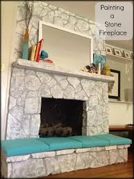 painting a stone firepace