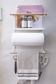 tosca magnetic kitchen organization rack in white design by