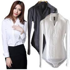 womens black blouse autumn s sleeve lapel neck ol slim