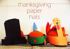 crafts with thanksgiving paper hats