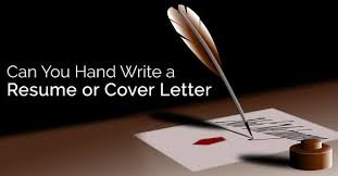 can you hand write a resume and cover letter wisestep