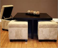 Small Coffee Table Small Coffee Table With 4 Integrated Ottomans