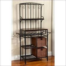 outdoor bakers rack with wood cabinet modern day target racks