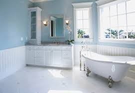 Blue Bathroom Vanity by Blue Bathroom Vanity Cabinet House Tour Cottage Bathroom Style At