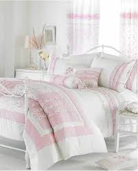 Cream Bedding And Curtains White Cream U0026 Pink Ruffle Bedding Duvet Cover Or Bedspread Quilt