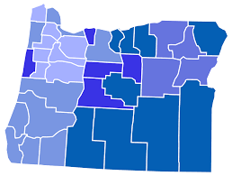Portland On Map by List Of Counties In Oregon Wikipedia