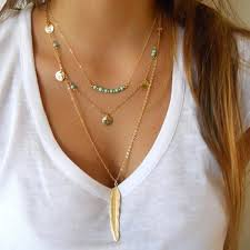 silver tassel long necklace images Bohemian choker necklace women natural stone tassel jpg
