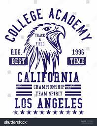 california los angeles college academy american stock vector