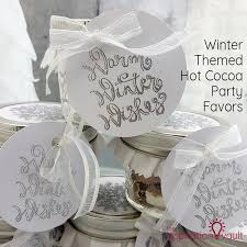 hot cocoa favors winter themed hot cocoa party favors the inspiration vault