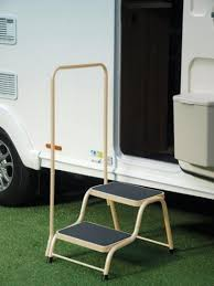 caravan step 3 tier double handrail amazon co uk sports u0026 outdoors