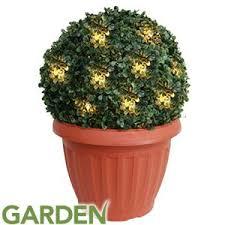 solar light topiary bush planter solar powered garden tree