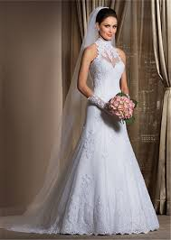 wedding dresses high gorgeous a line high neck wedding dress cheap lace sheer
