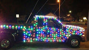 christmas lights wichita ks truck decked out in festive lights gets owner a ticket for christmas