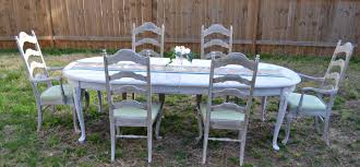 sold shabby chic french country ethan allen table and chairs zoom