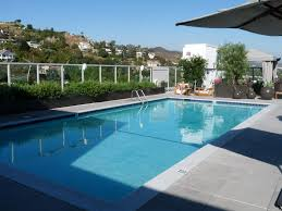 stunning rectangular outdoor pool with double stainless steel
