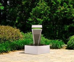 waterfall blade spillway with led light stainless steel 304