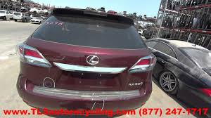 used lexus rx 350 washington state parting out 2013 lexus rx 350 stock 6257bk tls auto recycling