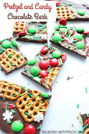 pretzel and candy chocolate bark fspdt