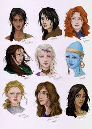 hairstyle books for women female characters from books by liberlibelula on deviantart