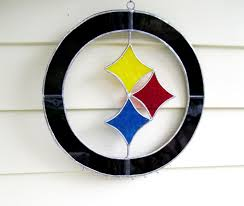 made steelers custom stained glass sun catcher with 6