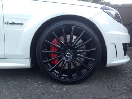 my black wheels with red amg callipers my new 2012 mercedes c63