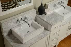 White Carrera Marble Bathroom - 84